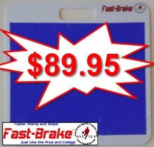 Fast-Brake Starter Kit 18x19, 1 White base, 1 Washable Mat Blue