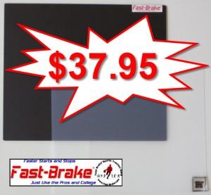 Fast-Brake Super Saver Starter Kit 18x19, 1 Black base, 30 sheets Clear