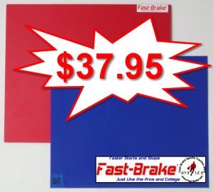 Fast-Brake Super Saver Starter Kit 18x19, 1 Red base, 30 sheets Blue