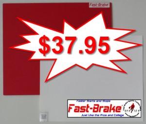 Fast-Brake Super Saver Starter Kit 18x19, 1 Red base, 30 sheets White