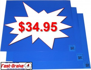 Fast-Brake Blue Replacement Mats 60 Sheets