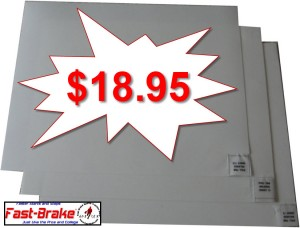 Fast-Brake White Replacement Mats 30 Sheets