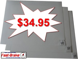 Fast-Brake White Replacement Mats 60 Sheets