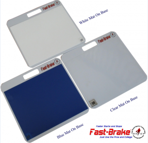 Fast-Brake Sport Mats - 3 Mat Color Choices - White, Clear and Blue
