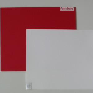 Fast-Brake Sport Mats – 18×19 Super Saver Red Base with White Mat