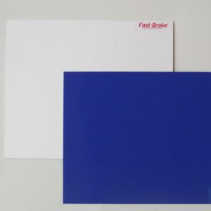 Fast-Brake Sport Mats – 18×19 Super Saver White Base with Blue Mat