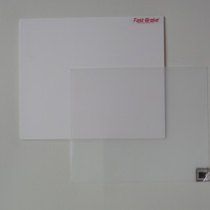 Fast-Brake Sport Mats – 18×19 Super Saver White Base with Clear Mat
