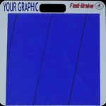 Fast-Brake 18x19 Base with Blue Washable Adhesive Mat - Customize Top Left Base With Your Graphic